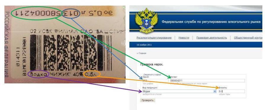 Проверка акцизной марки по номеру