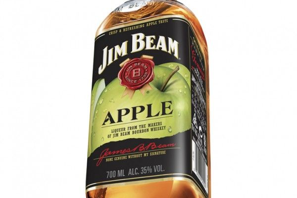 jim beam apple label
