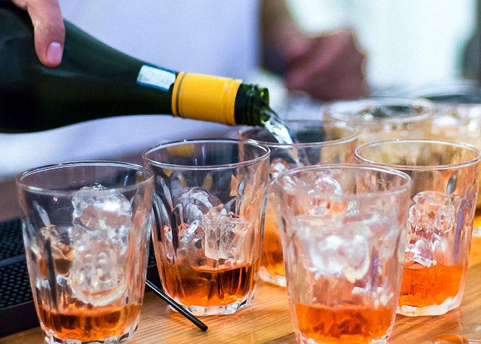 апероль с добавлением шампанского