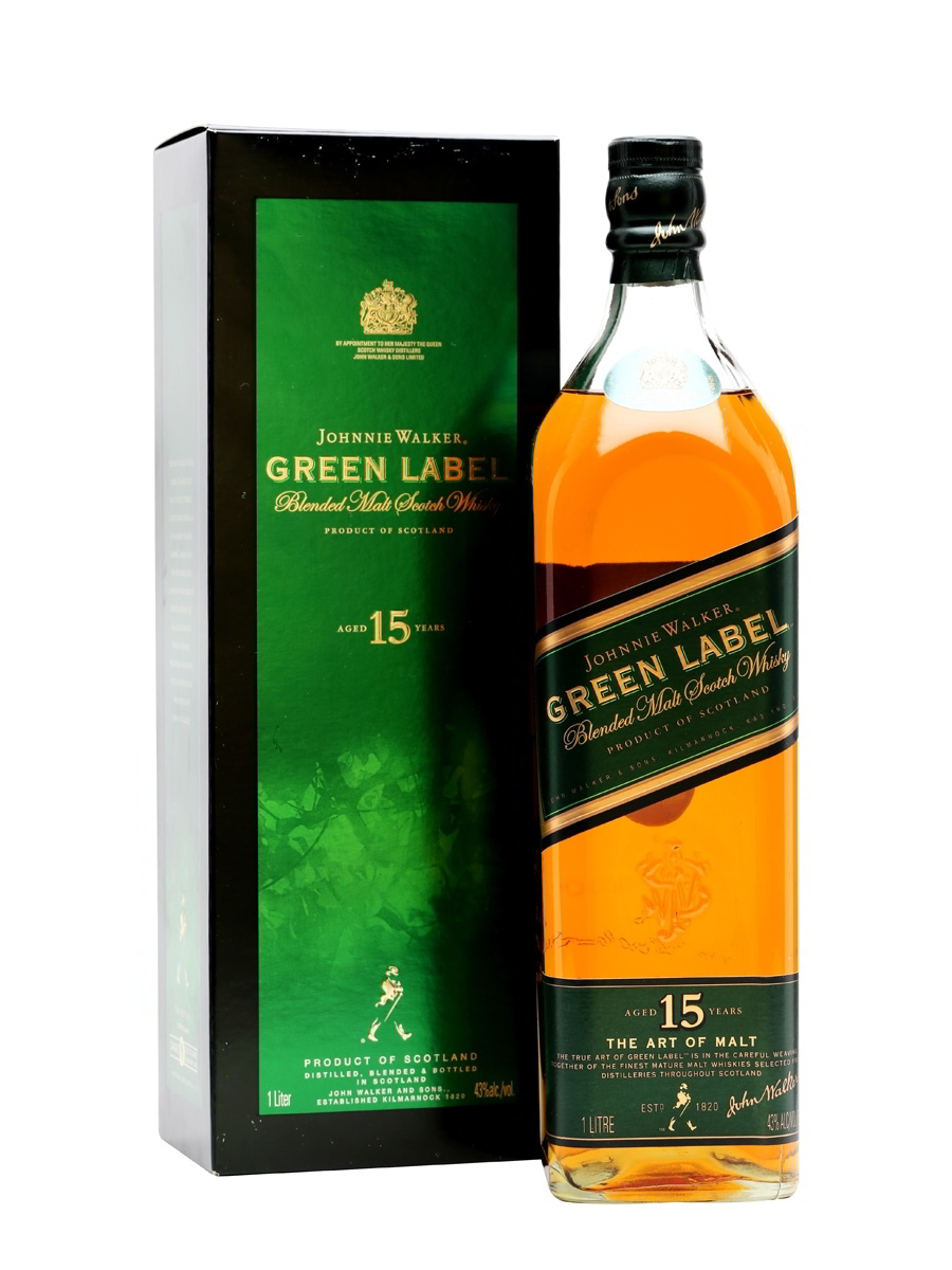 Виски Johnnie Walker Green Label 15 лет
